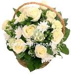 Cos floral alb